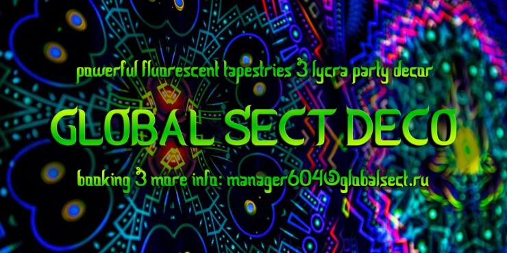 Global Sect Deco for parties and festivals